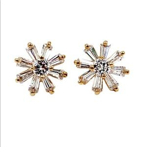 Delicate mini crystal earrings
